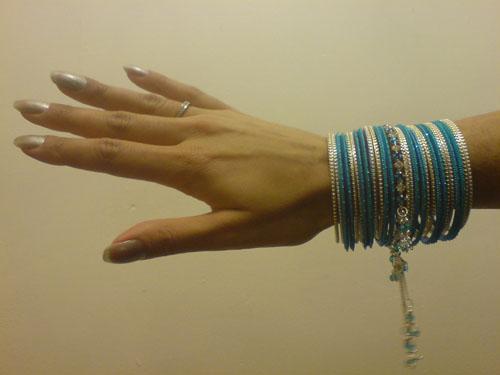 Blue Bangle Set