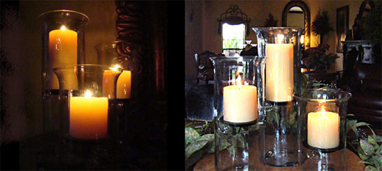 Using candles in your wedding decor marigold events pillar candles junglespirit Gallery