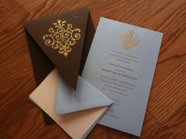 Contemporary Invites for the DIY Bride « Marigold Events