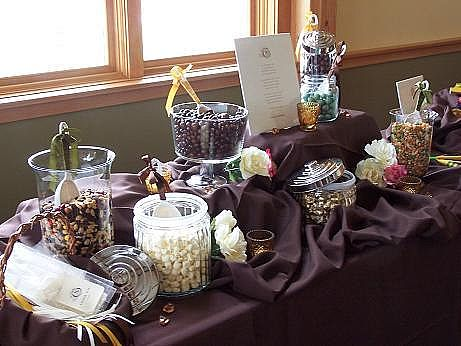 Wow your guests with a candy buffet marigold events for Candy bar for weddings receptions