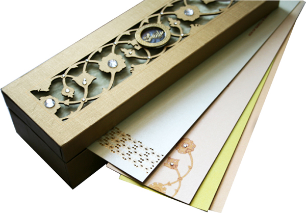 Neha marigold events for Wedding invitation boxes online india
