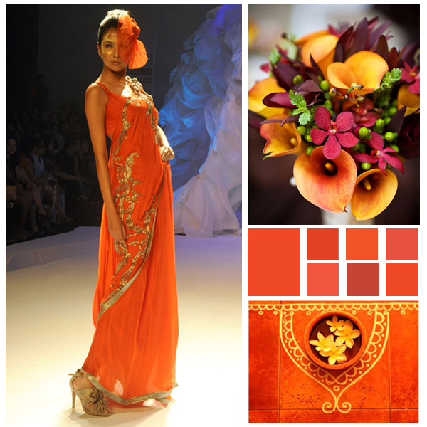 Will Tangerine Tango be the hot Indian Wedding Color this year